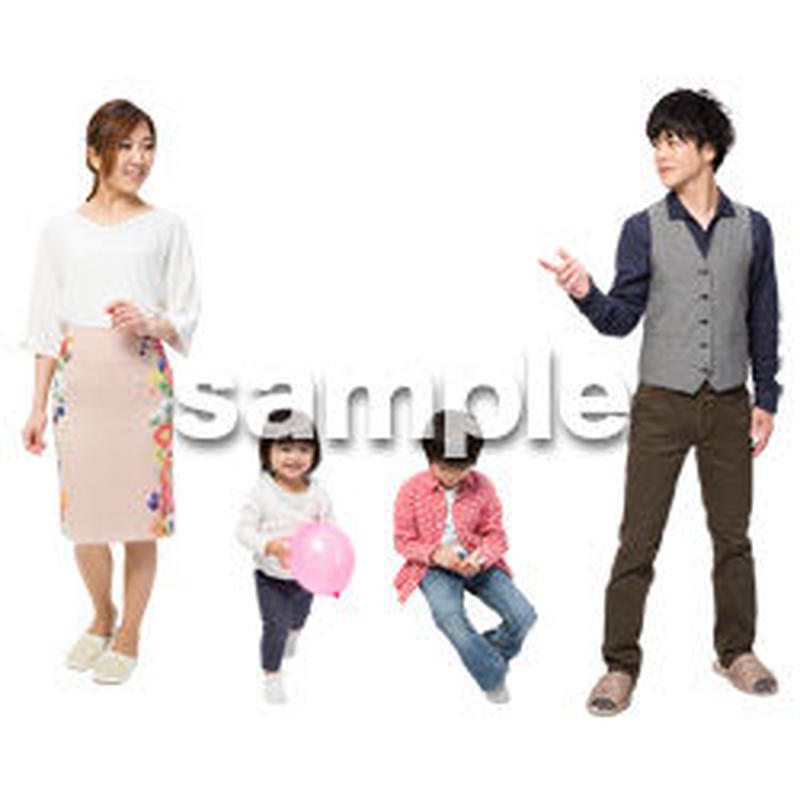 Cutout People 4人家族 II_336