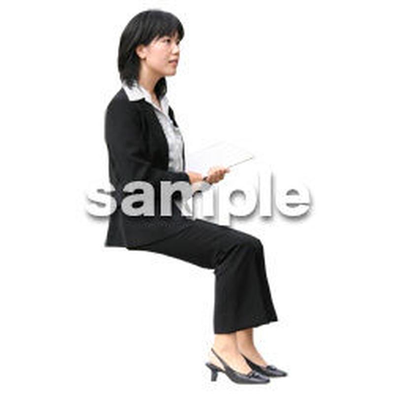 人物切抜き素材 座る人編 H_392