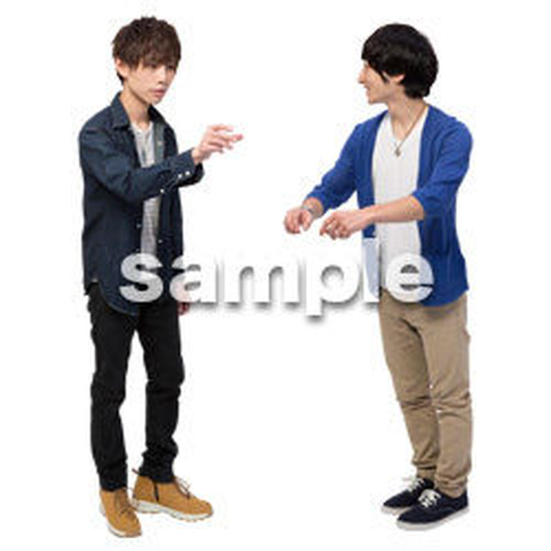 Cutout People 男性ペア JJ_422