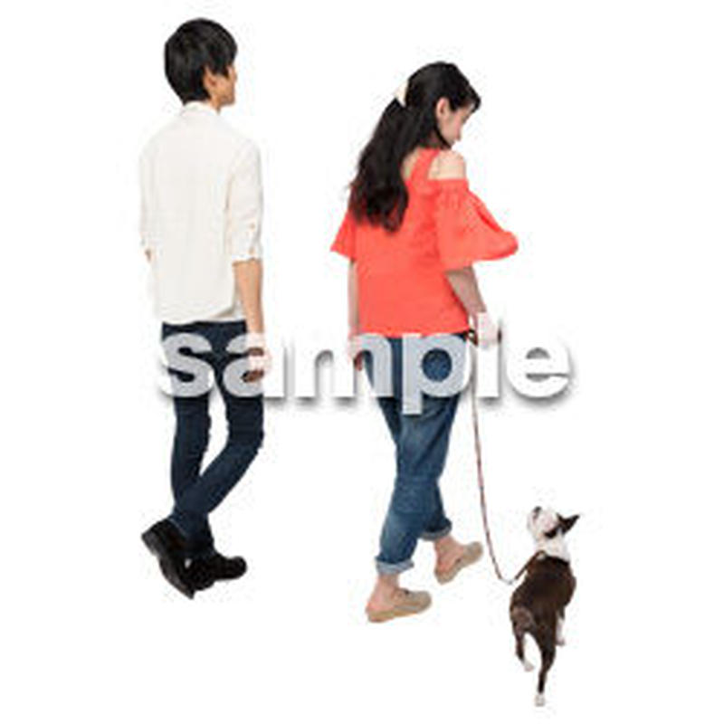 Cutout People 犬の散歩 II_474