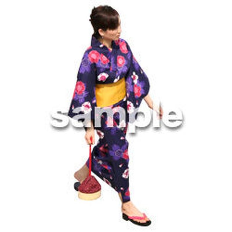 人物切抜き素材 夏服・フィットネス編 J_036