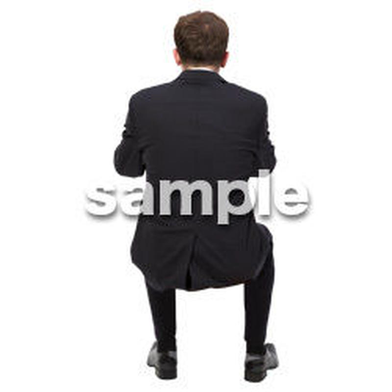 Cutout People 座る 外国人男性 LL_555