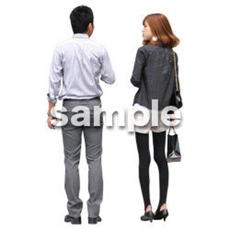 人物切抜き素材 アーバン・ショッピング編 M_054