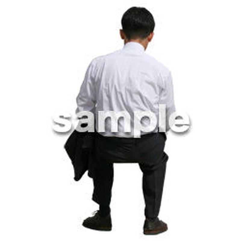 人物切抜き素材 座る人編 H_227