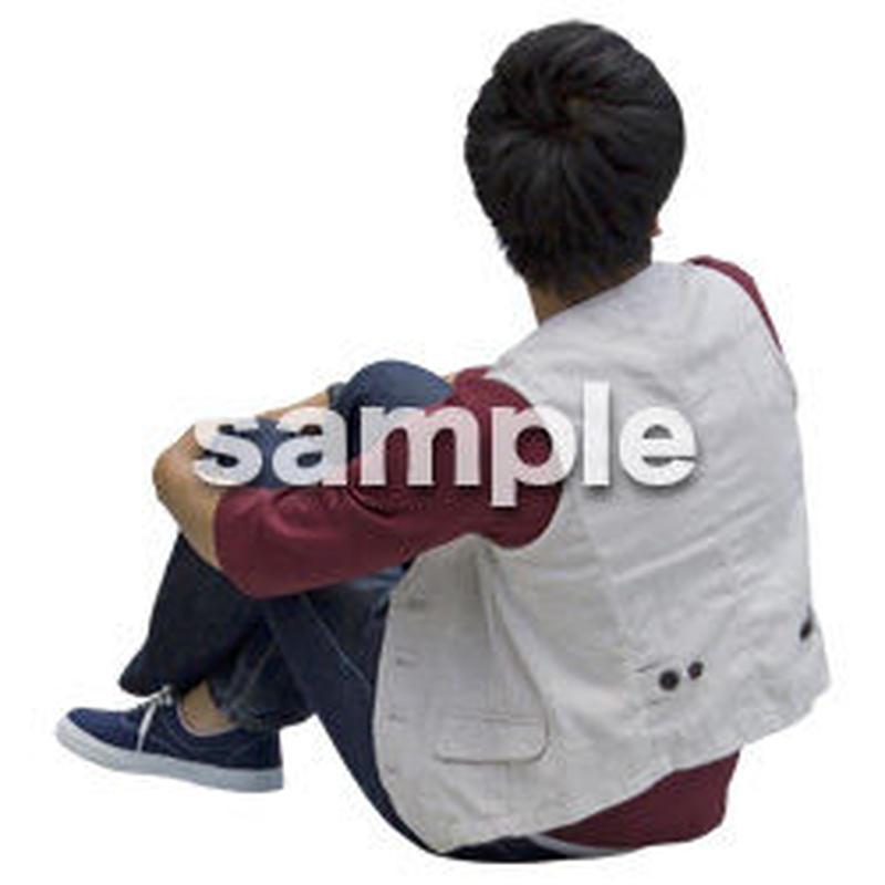 人物切抜き素材 座る人Ⅱ編 Q_596