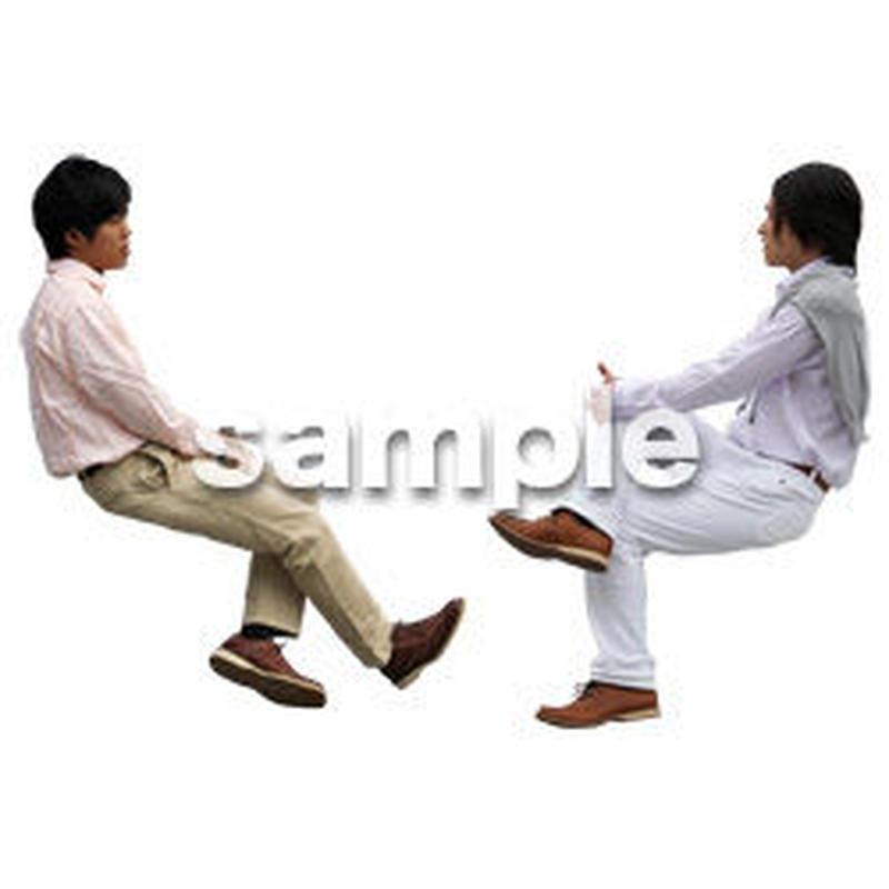 人物切抜き素材 座る人Ⅱ編 Q_064