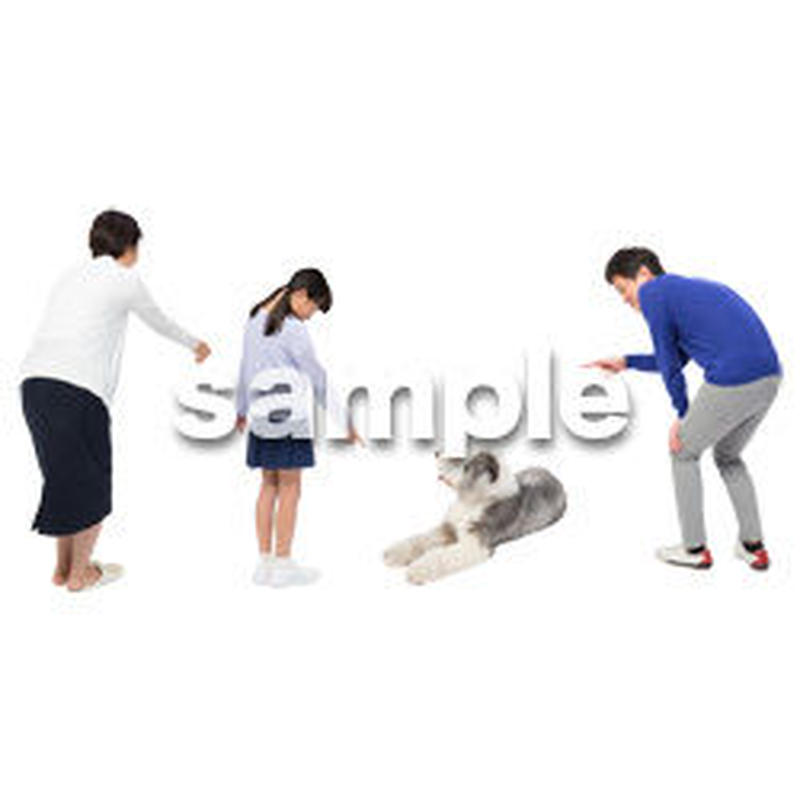 Cutout People 犬の散歩 II_494