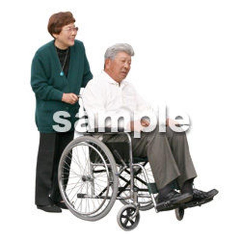 人物切抜き素材 医療・シニア車椅子編 D_274