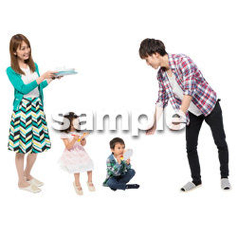 Cutout People 4人家族 II_347
