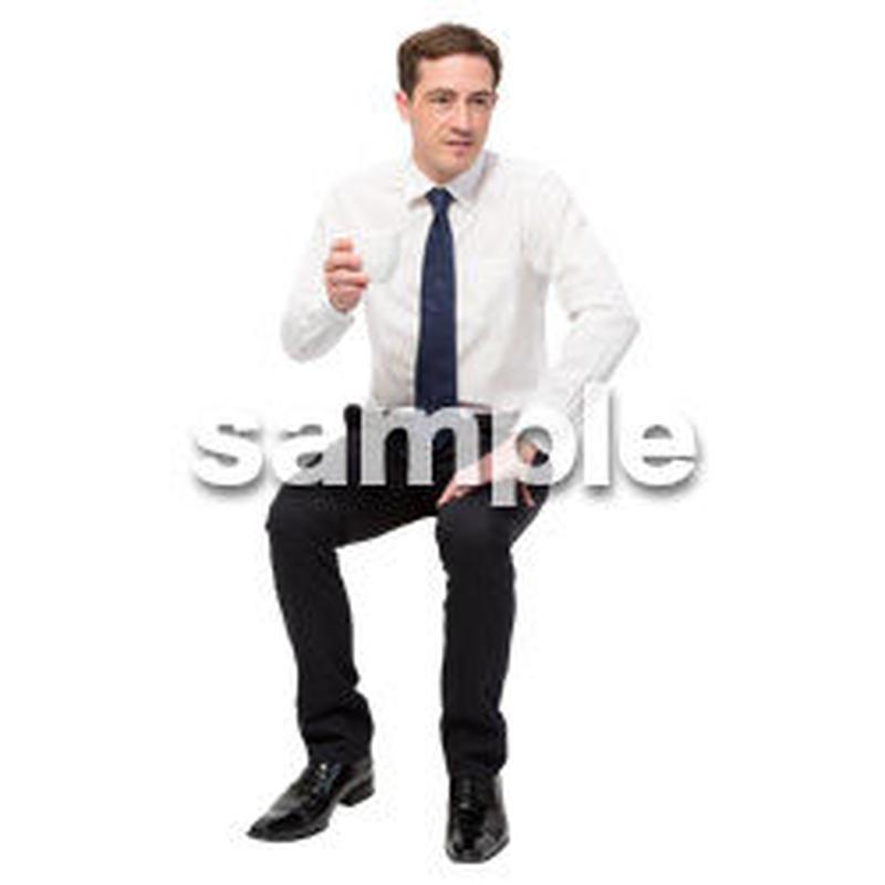 Cutout People 座る 外国人男性 LL_566