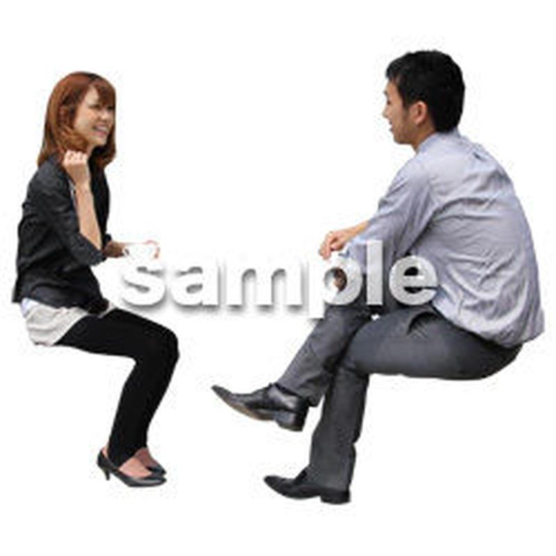 人物切抜き素材 アーバン・ショッピング編 M_351