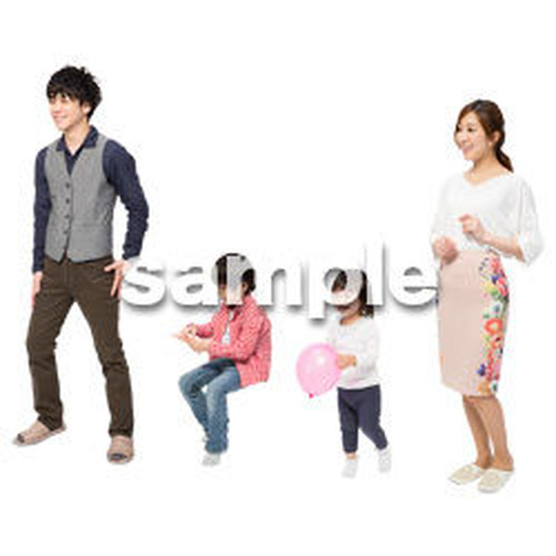 Cutout People 4人家族 II_337