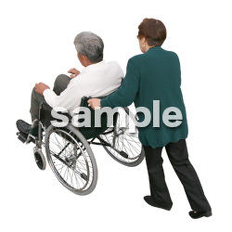 人物切抜き素材 医療・シニア車椅子編 D_281