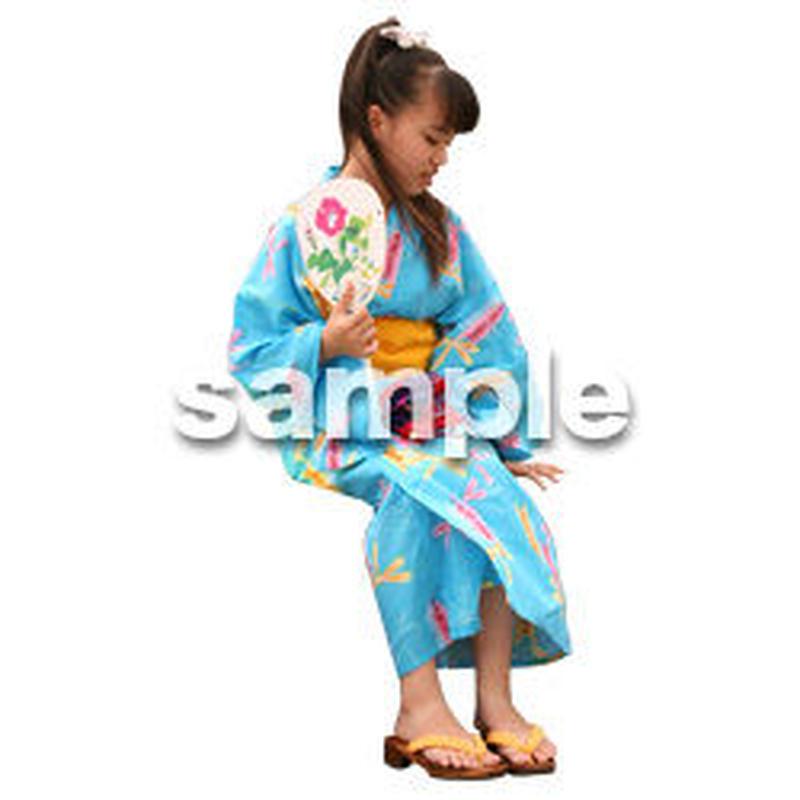 人物切抜き素材 夏服・フィットネス編 J_045