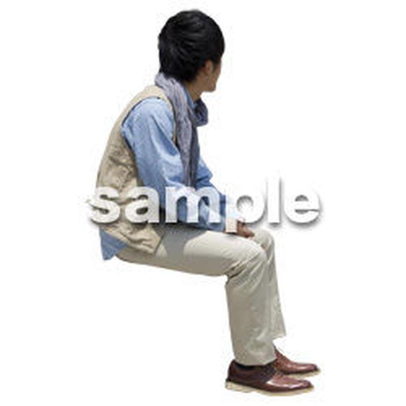 人物切抜き素材 座る人Ⅱ編 Q_559
