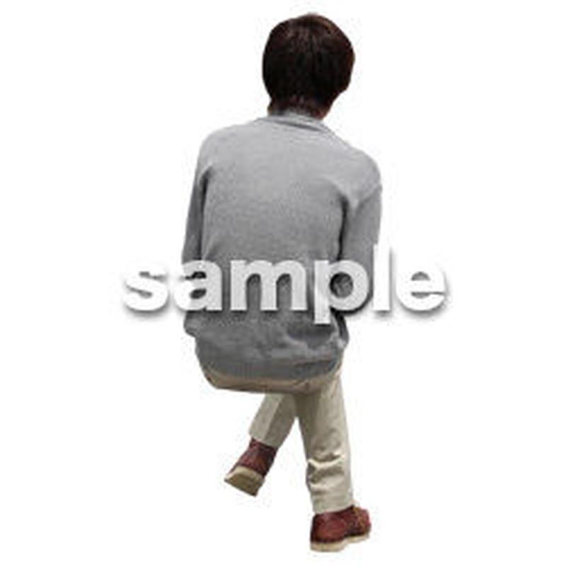 人物切抜き素材 座る人Ⅱ編 Q_555