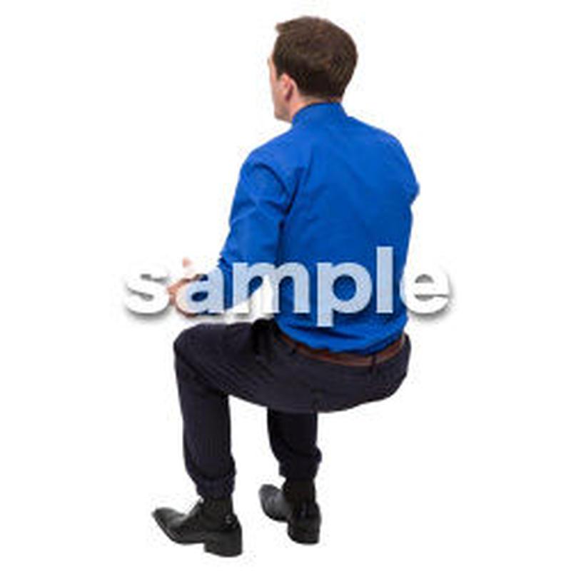 Cutout People 座る 外国人男性 LL_564