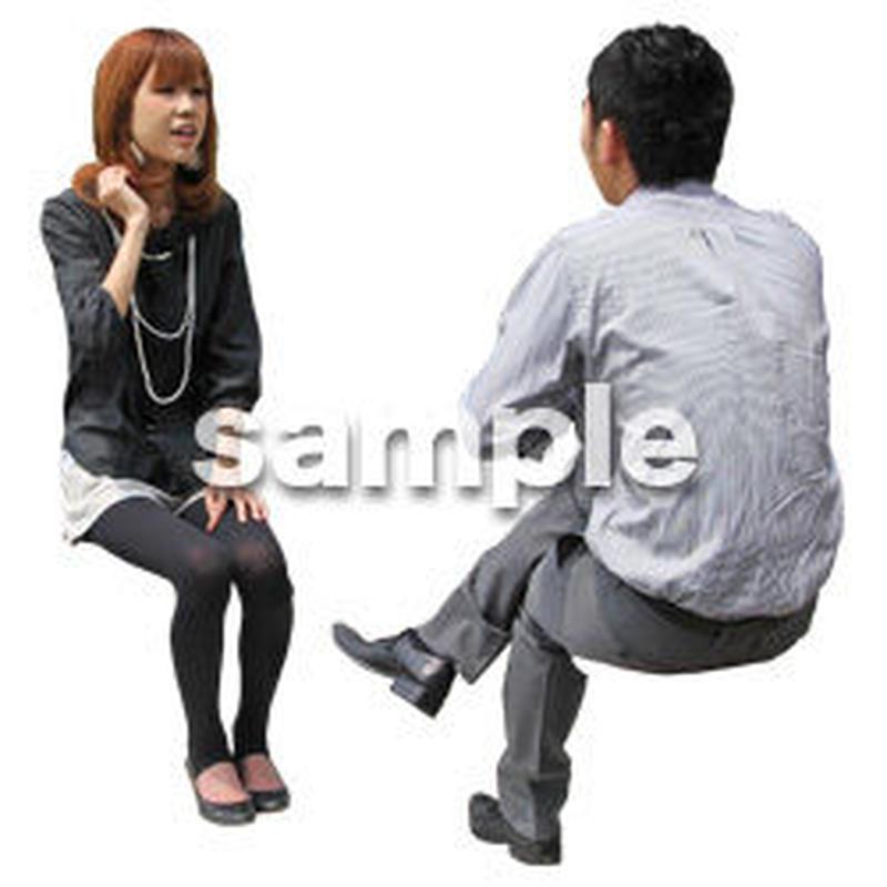 人物切抜き素材 アーバン・ショッピング編 M_350