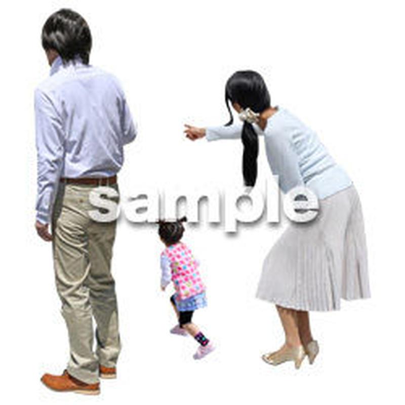 人物切抜き素材 ショッピングモール護編 T_183
