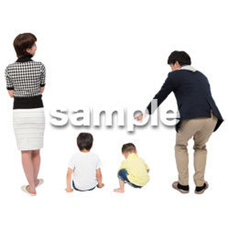 Cutout People 4人家族 II_330
