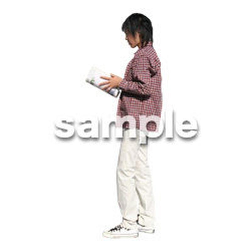 人物切抜き素材 カジュアル・ショッピング編 E_215