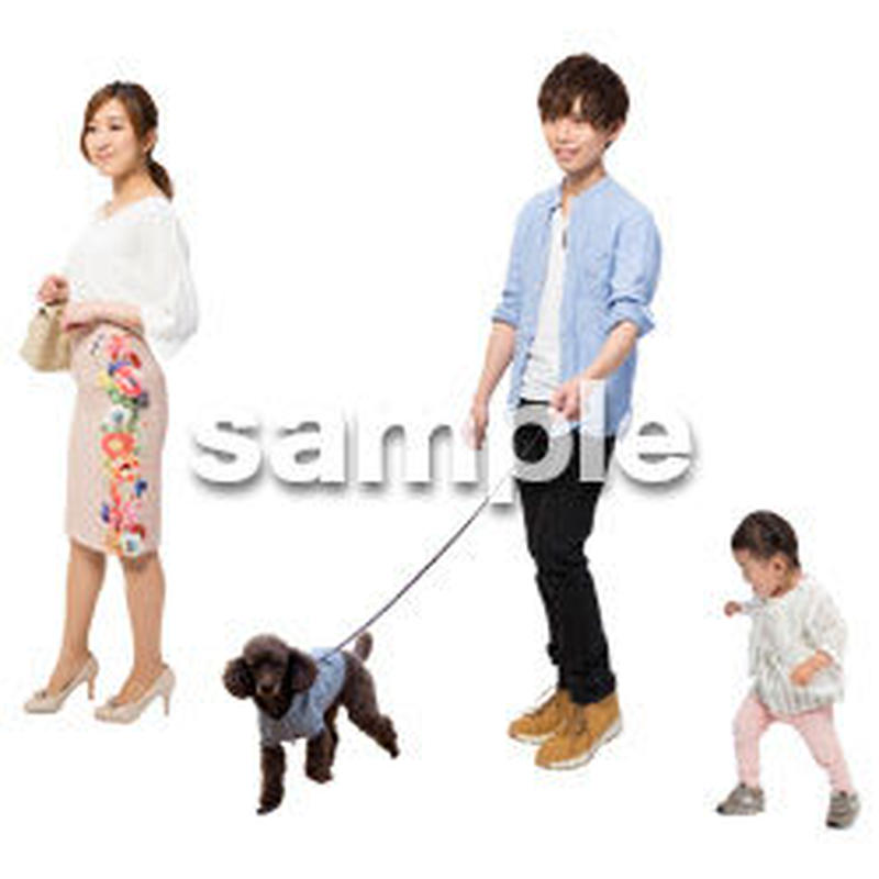 Cutout People 犬の散歩 II_452