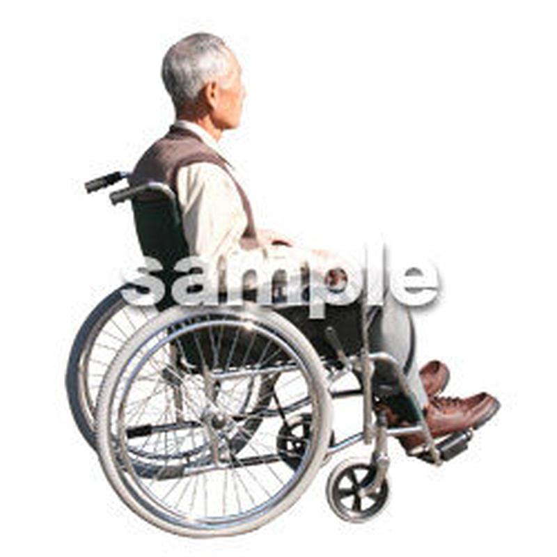 人物切抜き素材 医療・シニア車椅子編 D_270