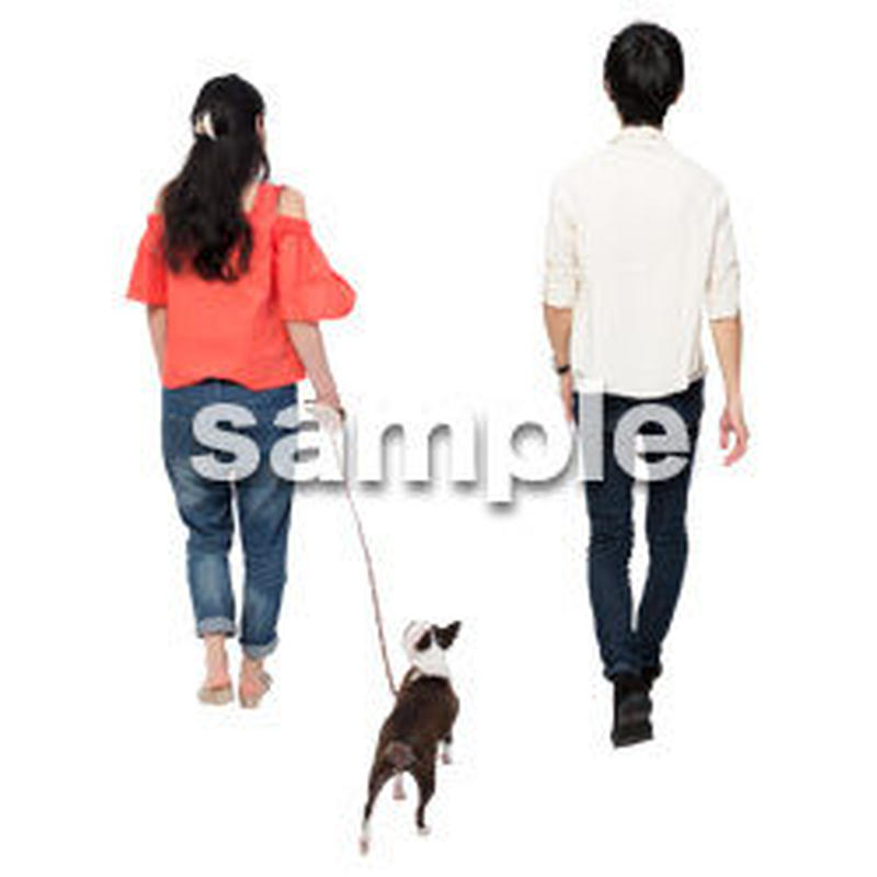 Cutout People 犬の散歩 II_475