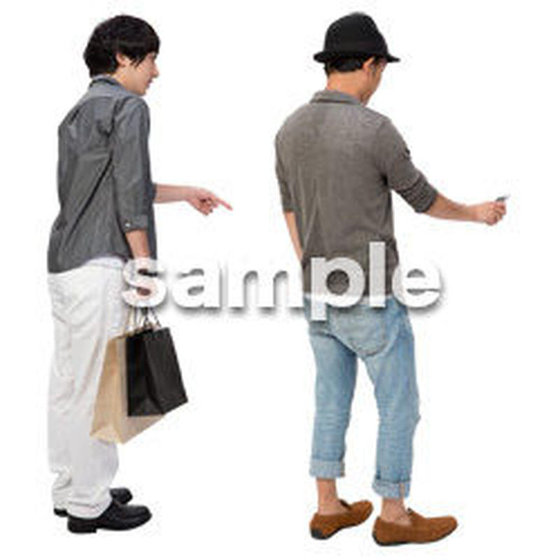 Cutout People 男性ペア JJ_419