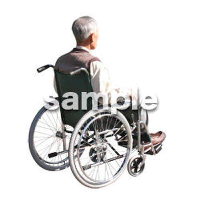 人物切抜き素材 医療・シニア車椅子編 D_271