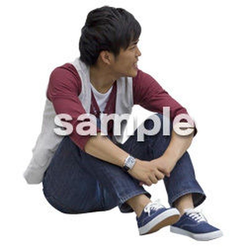 人物切抜き素材 座る人Ⅱ編 Q_593