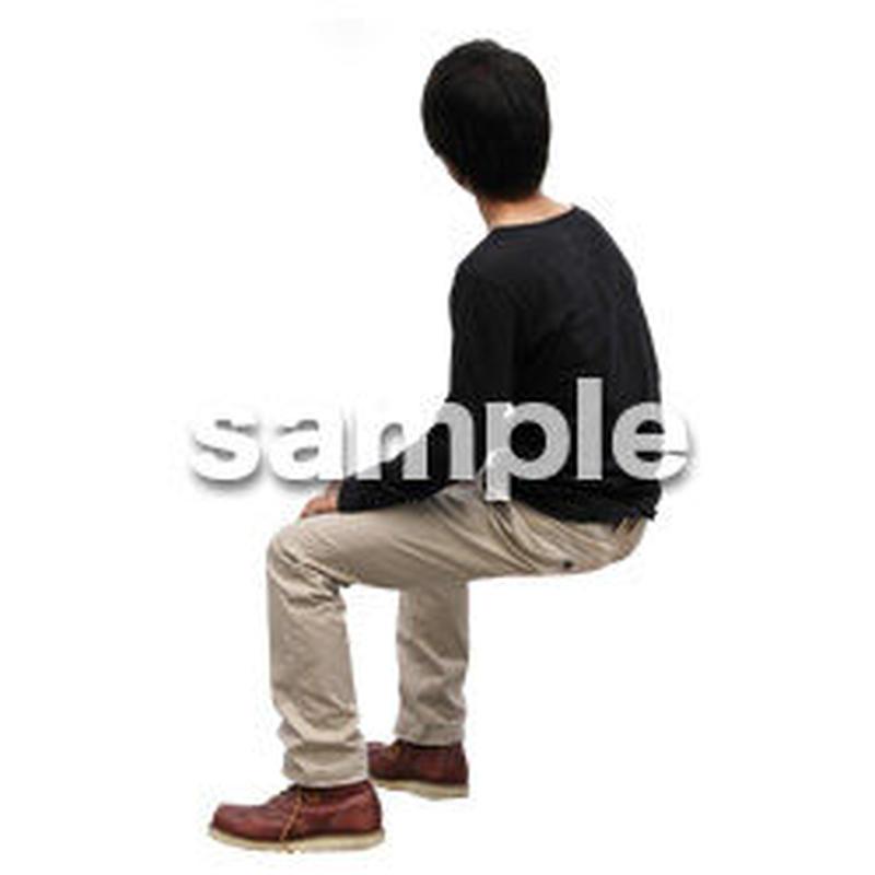 人物切抜き素材 座る人Ⅱ編 Q_571