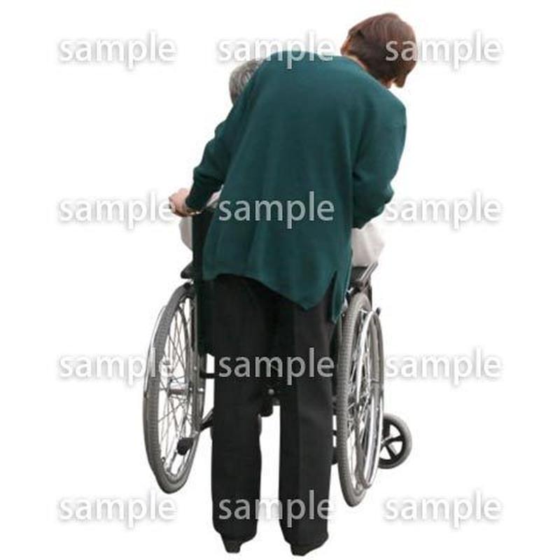 人物切抜き素材 医療・シニア車椅子編 D_277