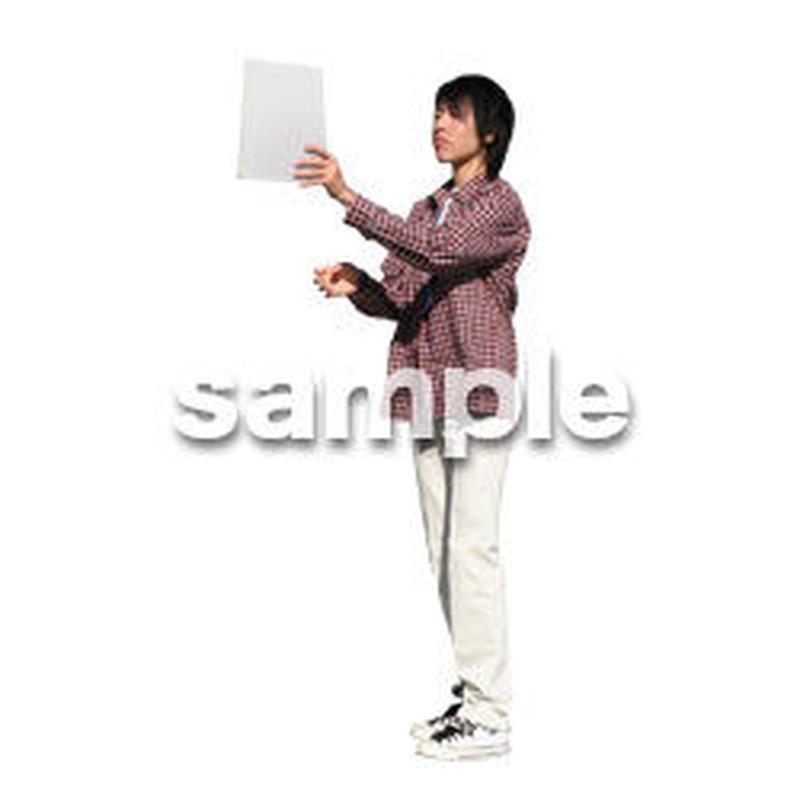 人物切抜き素材 カジュアル・ショッピング編 E_214