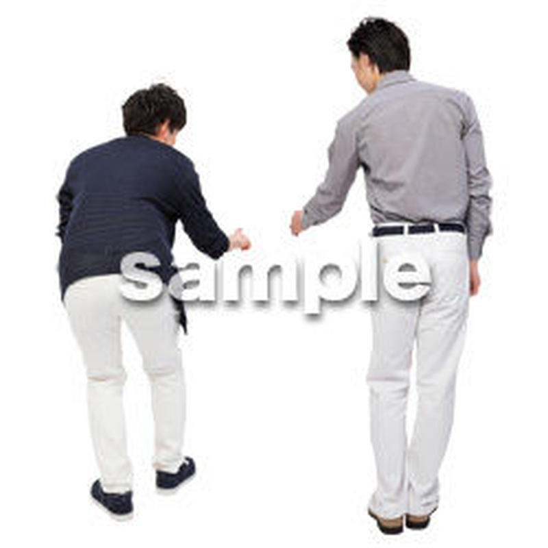 Cutout People 男性ペア JJ_435