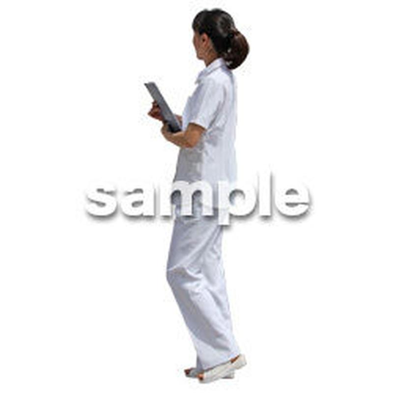 人物切抜き素材 シニア介護編 S_312
