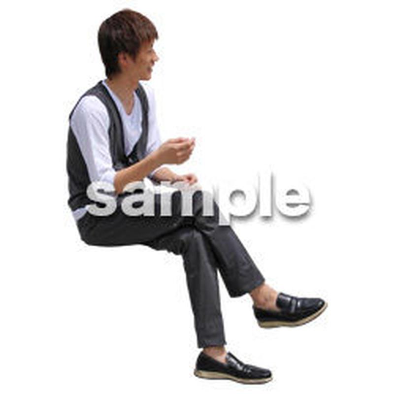 人物切抜き素材 座る人Ⅱ編 Q_537