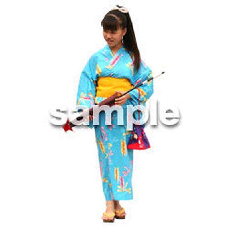 人物切抜き素材 夏服・フィットネス編 J_040