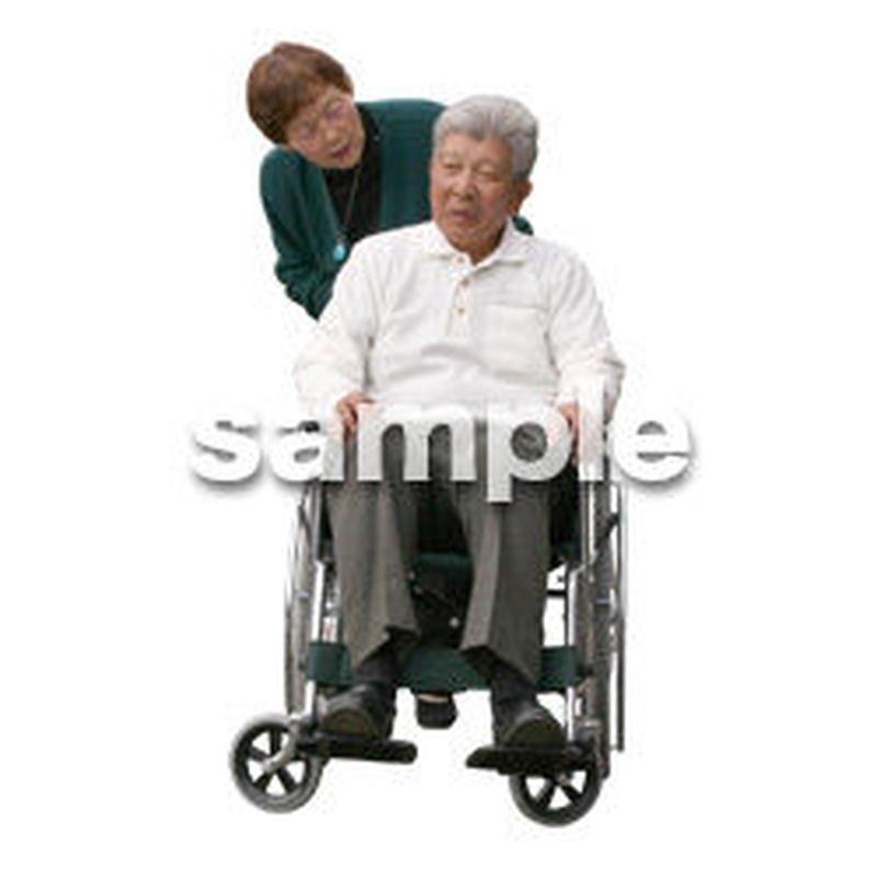人物切抜き素材 医療・シニア車椅子編 D_273