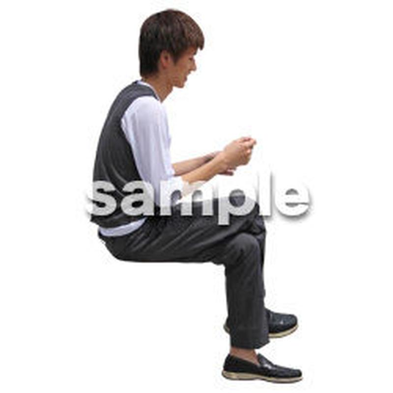 人物切抜き素材 座る人Ⅱ編 Q_538