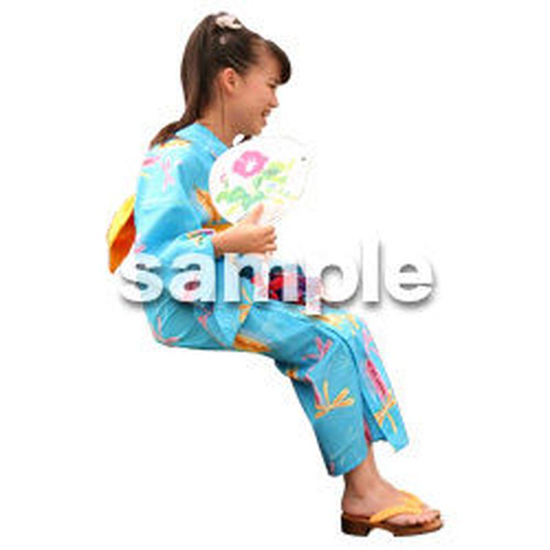 人物切抜き素材 夏服・フィットネス編 J_046