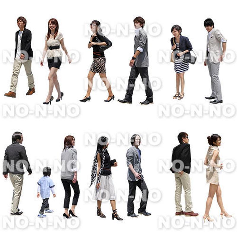 人物切抜きセット☆モノトーンファッション 1_set059