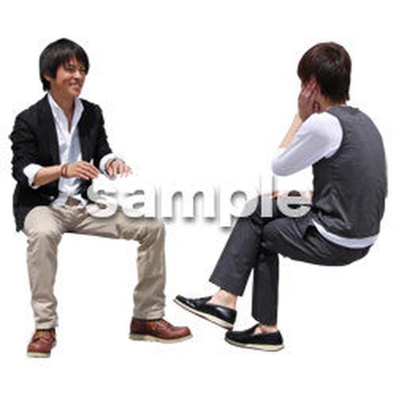 人物切抜き素材 座る人Ⅱ編 Q_083