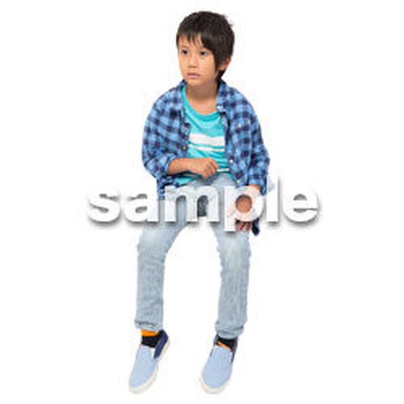 Cutout People 座る 男の子 LL_531