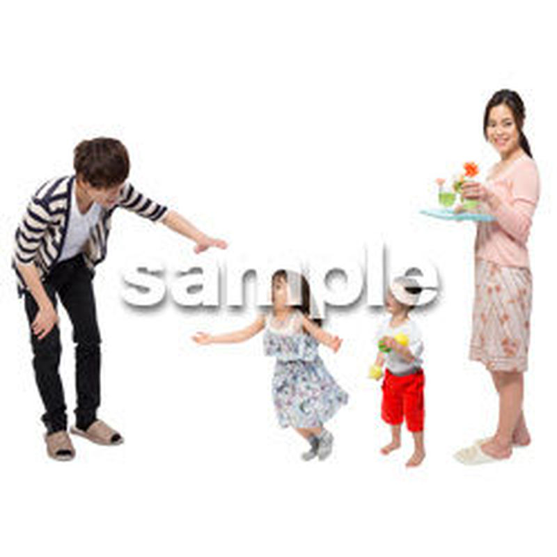 Cutout People 4人家族 II_342