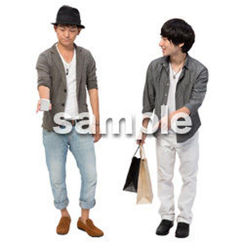 Cutout People 男性ペア JJ_416