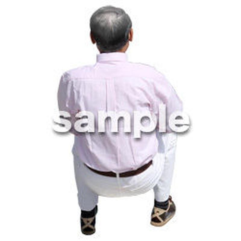 人物切抜き素材 シニア介護編 S_486