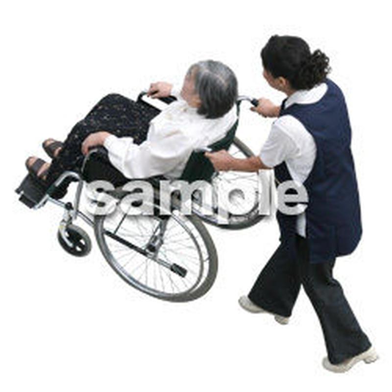 人物切抜き素材 医療・シニア車椅子編 D_290