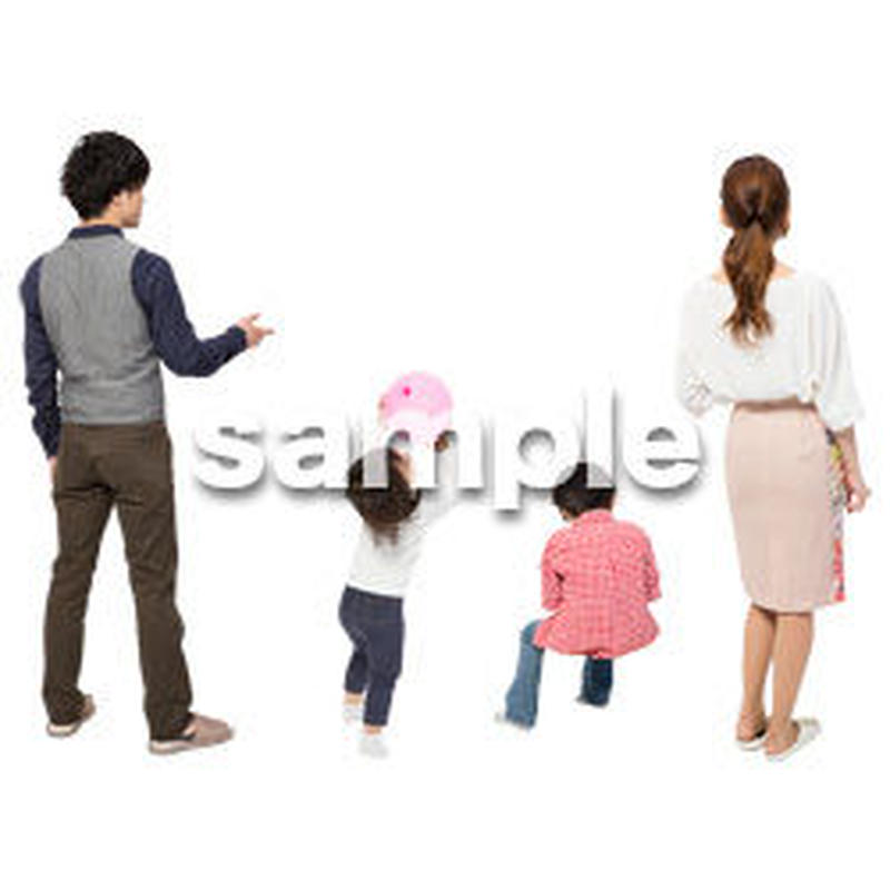 Cutout People 4人家族 II_340