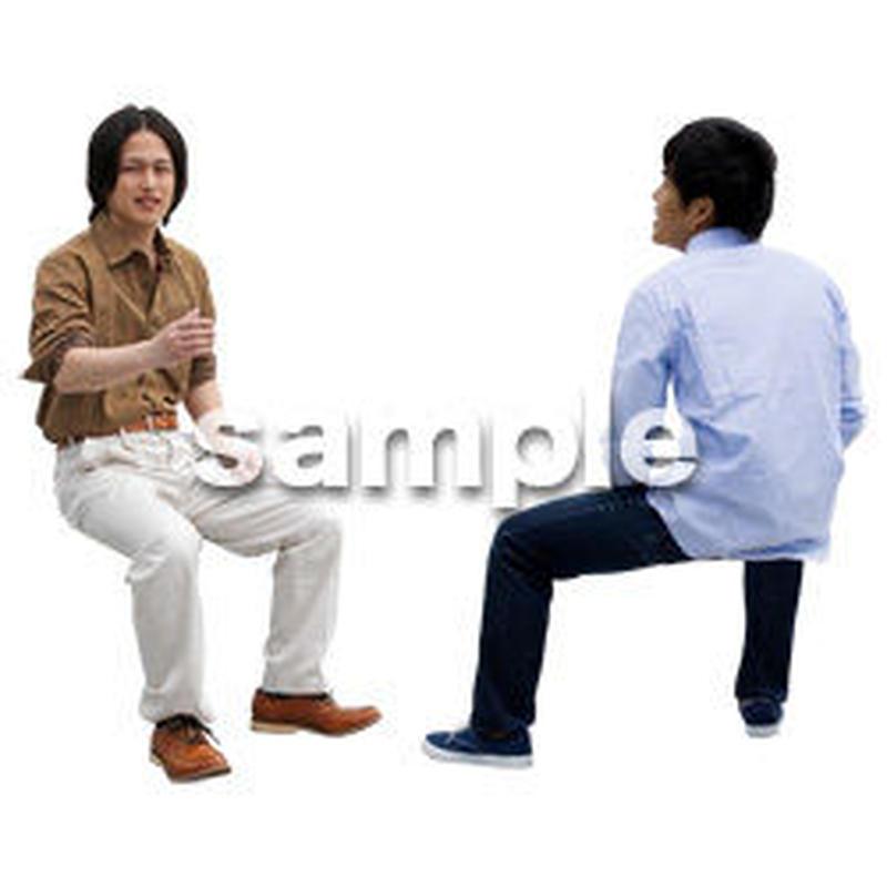 人物切抜き素材 座る人Ⅱ編 Q_070